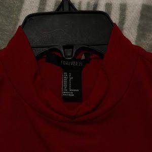 Red Turtleneck Bodysuit